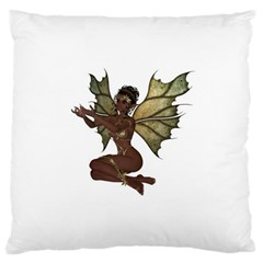 Faerie Nymph Fairy With Outreaching Hands Large Cushion Case (two Sided)  by goldenjackal
