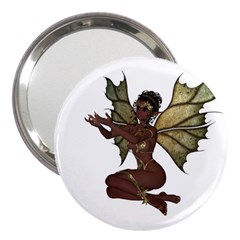 Faerie Nymph Fairy With Outreaching Hands 3  Handbag Mirror by goldenjackal