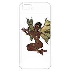 Faerie Nymph Fairy With Outreaching Hands Apple Iphone 5 Seamless Case (white) by goldenjackal