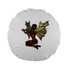 Faerie Nymph Fairy With Outreaching Hands 15  Premium Round Cushion  by goldenjackal