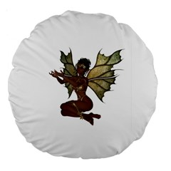 Faerie Nymph Fairy With Outreaching Hands 18  Premium Round Cushion  by goldenjackal