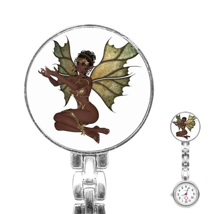 Faerie Nymph Fairy with outreaching hands Stainless Steel Nurses Watch