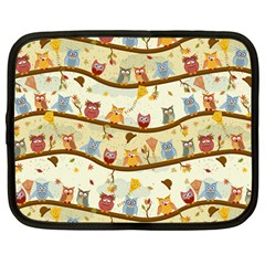 Autumn Owls Netbook Sleeve (large) by Ancello
