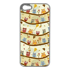 Autumn Owls Apple Iphone 5 Case (silver)