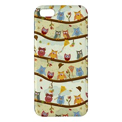 Autumn Owls Iphone 5 Premium Hardshell Case by Ancello