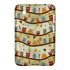 Autumn Owls Samsung Galaxy Tab 2 (7 ) P3100 Hardshell Case  by Ancello