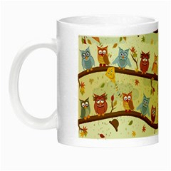 Autumn Owls Glow In The Dark Mug by Ancello