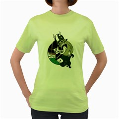 The Sailing Instinct Womens  T Shirt (green)