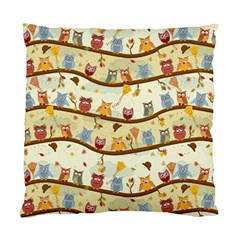 Autumn Owls Cushion Case (two Sided)  by Ancello