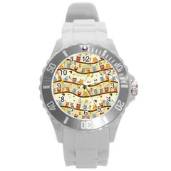 Autumn Owls Plastic Sport Watch (large) by Ancello