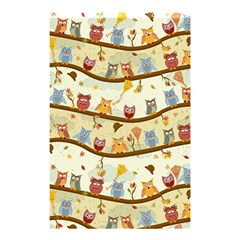 Autumn Owls Shower Curtain 48  X 72  (small) by Ancello