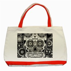 Skull Classic Tote Bag (red) by Ancello