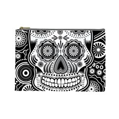 Skull Cosmetic Bag (large) by Ancello