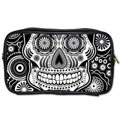 Skull Travel Toiletry Bag (one Side) by Ancello