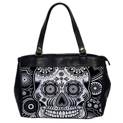 Skull Oversize Office Handbag (one Side) by Ancello