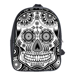 Skull School Bag (xl) by Ancello