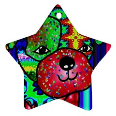Pug Star Ornament (two Sides) by Siebenhuehner