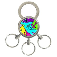 Abstract 3-ring Key Chain by Siebenhuehner