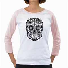 Sugar Skull Girly Raglan by Ancello
