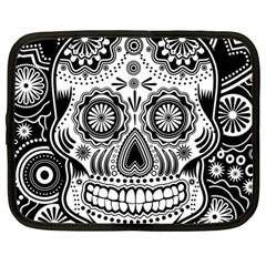 Sugar Skull Netbook Sleeve (large) by Ancello