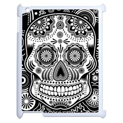 Sugar Skull Apple Ipad 2 Case (white) by Ancello