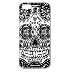 Sugar Skull Apple Seamless Iphone 5 Case (clear) by Ancello
