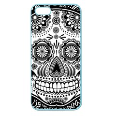 Sugar Skull Apple Seamless Iphone 5 Case (color) by Ancello