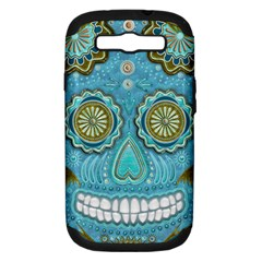 Skull Samsung Galaxy S Iii Hardshell Case (pc+silicone) by Ancello