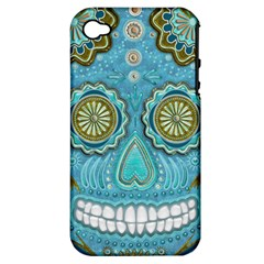 Skull Apple Iphone 4/4s Hardshell Case (pc+silicone) by Ancello