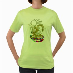 Seppucorn Womens  T Shirt (green)