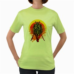 Blood Samurai Womens  T Shirt (green)