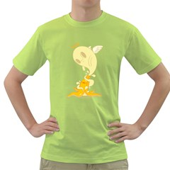 Banana Ghost Mens  T-shirt (green)