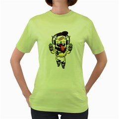 Stylish Monster  Womens  T Shirt (green) by Contest1741741