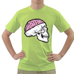 Skull & Brain Mens  T Shirt (green) by Contest1741741
