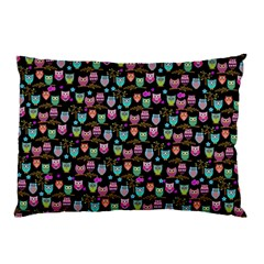 Happy Owls Pillow Case by Ancello