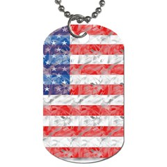 Flag Dog Tag (two-sided)  by uniquedesignsbycassie