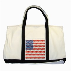 Flag Two Toned Tote Bag by uniquedesignsbycassie