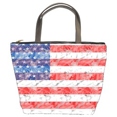 Flag Bucket Handbag by uniquedesignsbycassie