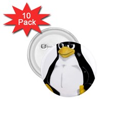Angry Linux Tux Penguin 1 75  Button (10 Pack)