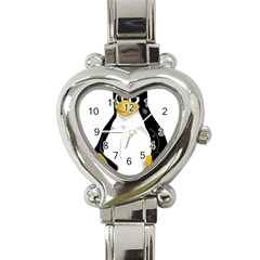 Angry Linux Tux Penguin Heart Italian Charm Watch  by youshidesign