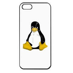 Angry Linux Tux Penguin Apple Iphone 5 Seamless Case (black) by youshidesign