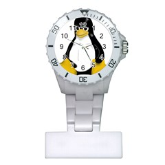 Angry Linux Tux Penguin Nurses Watch by youshidesign