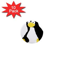 Primitive Linux Tux Penguin 1  Mini Button Magnet (10 Pack) by youshidesign