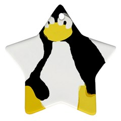 Primitive Linux Tux Penguin Star Ornament (two Sides) by youshidesign