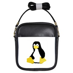 Primitive Linux Tux Penguin Girl s Sling Bag by youshidesign