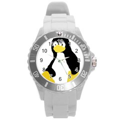 Primitive Linux Tux Penguin Plastic Sport Watch (large) by youshidesign