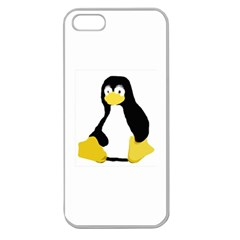 Primitive Linux Tux Penguin Apple Seamless Iphone 5 Case (clear) by youshidesign