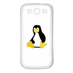Primitive Linux Tux Penguin Samsung Galaxy S3 Back Case (white) by youshidesign
