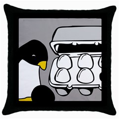Egg Box Linux Black Throw Pillow Case