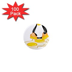 Linux Tux Penguin Birth 1  Mini Button Magnet (100 Pack) by youshidesign